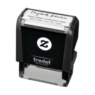 Custom Elegant Return Address Self Inking Stamp