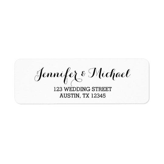 Custom Elegant Script Wedding Return Address Label