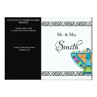 Custom Elegant Tribal Wedding Invitations