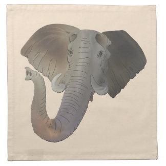 "Custom Elephant Cloth Napkins 4 cocktail 12"" x 12"""