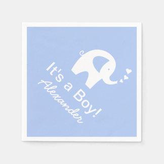 Custom elephant It's a boy baby shower napkins Disposable Serviette