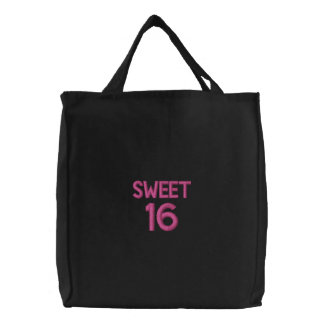 Custom Embroidered Bag, Sweet 16, Quote Love Canvas Bags