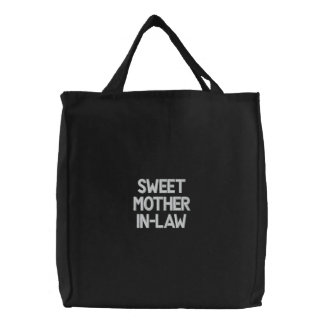 Custom Embroidered Bag, Sweet Mother-In-Law, Quote Embroidered Tote Bag