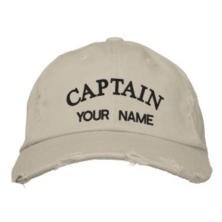 Custom Embroidered Captain Template Embroidered Baseball Cap
