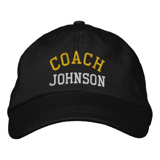 Custom Embroidered Coach Hat Embroidered Baseball Cap