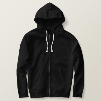Custom Embroidered Sherpa-Lined Zip Hoodie