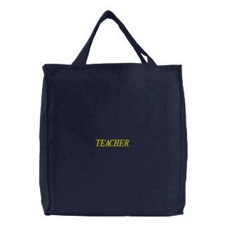 Custom Embroidered Teacher Bag Embroidered Tote Bag