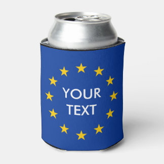 Custom EU European Union flag can coolers