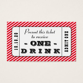 Custom Event Drink Cards Business Cards Pack