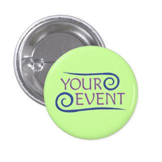 Custom Event Logo Flair Button Pin - Small