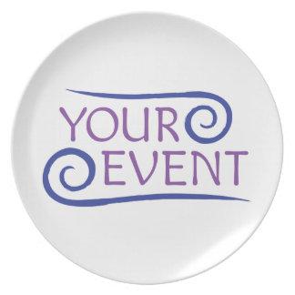 Custom Event Logo Melamine Plate