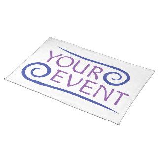 Custom Event Logo Placemat