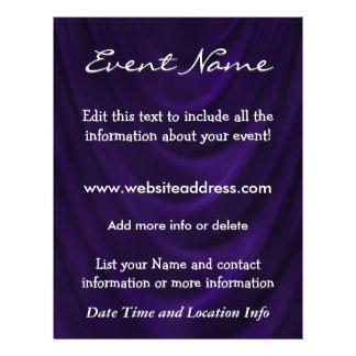Custom Event Velvet Drape Flyer