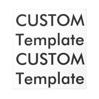 """Custom Every Page Notebook 40 Pages 5.5"""" x 6"""" Notepad"""