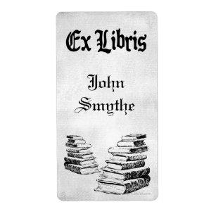 Custom Ex Libris Vintage Books Bookplate Labels
