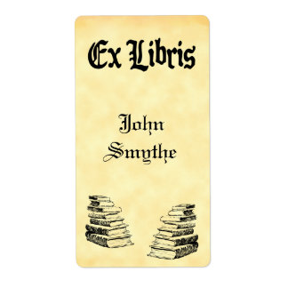 Custom Ex Libris Vintage Books Tags Shipping Label