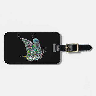 Custom Exotic Butterfly Luggage Tag