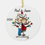 Custom Expectant Couple Christmas Ornament