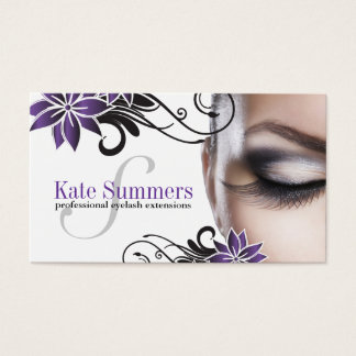 Custom Eye Lash Extensions Business Cards