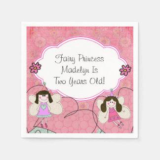 Custom Fairy Princess Birthday Paper Napkins