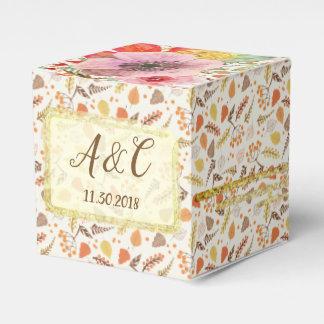 Custom Fall Floral Favour Box