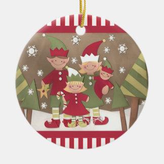 Custom Family Christmas Gift Ceramic Ornament