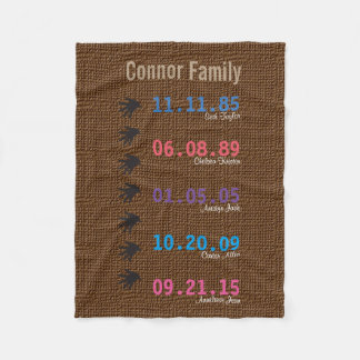 Custom Family Keepsake Blanket
