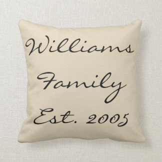 Custom Family (many background colors available) Cushion