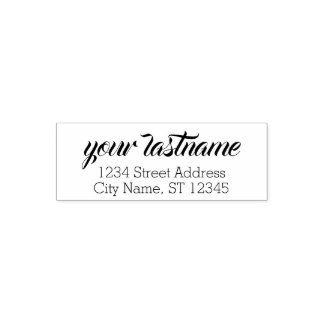 Custom Family Name and Return Address - badung Self-inking Stamp