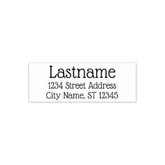 Custom Family Name and Return Address - Glass font Self-inking Stamp