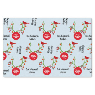 Custom Family Name Reindeer Antlers Christmas Tissue Paper