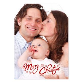 Custom Family Photo Christmas  5x7 Invitation Tag