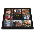 "Custom family photo collage ""All you need is love"" Stretched Canvas Prints"