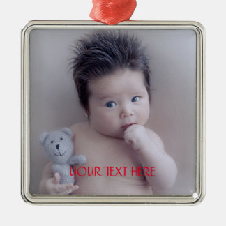 Custom Family Photo Metal Ornament