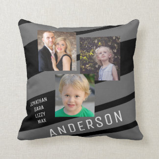 Custom Family Photo Personalized Throw Pillow