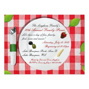 family picnic invitations announcements zazzle au