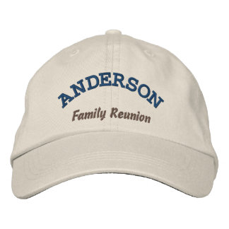 Custom Family Reunion Embroidered Hat