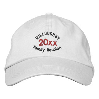 Custom Family Reunion Hat with Name and Year Embroidered Baseball Cap