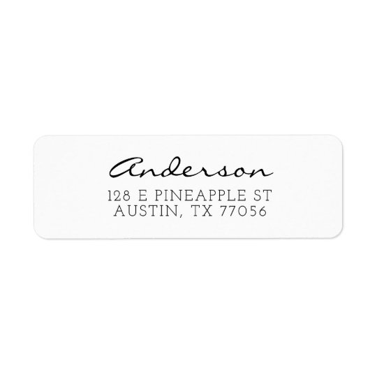 Custom Family Script Typgraphy Name Return Address Return Address Label