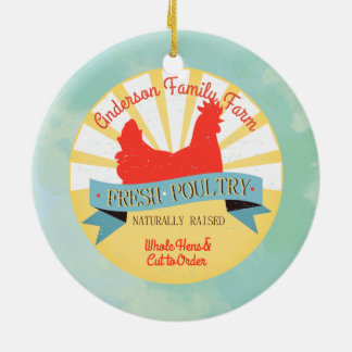 Custom farm name poultry Christmas ornament