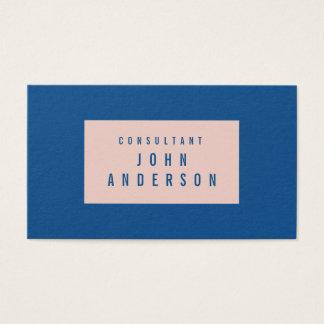 Custom Fashion Frame Pale Dogwood Lapis Blue Business Card