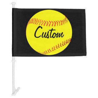 Custom Fastpitch Softball Car Flag
