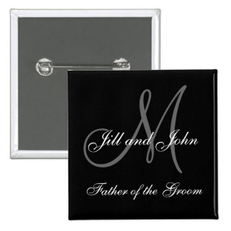 Custom Father of the Groom Wedding Party Buttons