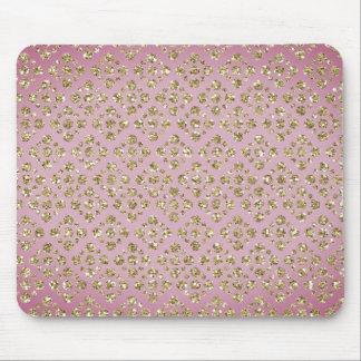 Custom Faux Glitter Gold Dots Mauve Mousepad