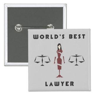 Custom Female Geometric World's Best Lawyer 15 Cm Square Badge
