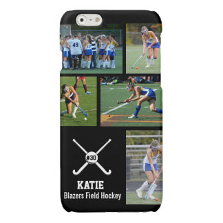 Custom Field Hockey Photo Collage Name Team Number