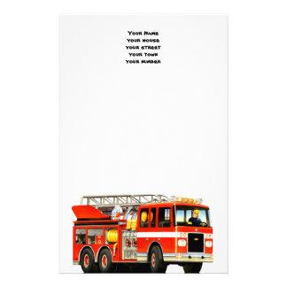 Custom Fire Truck Stationery