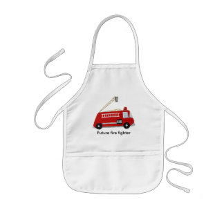 Custom Fire truck with text Kids Apron