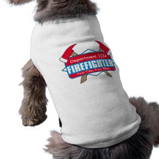 Custom Firefighter with Axes Sleeveless Dog Shirt
