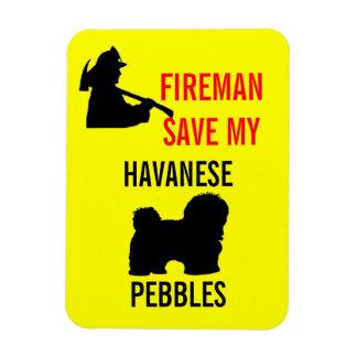 Custom Fireman Save My Havanese Fire Safety Magnet
